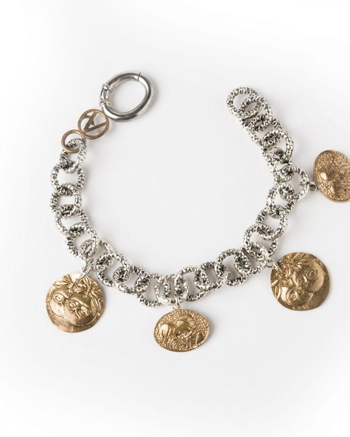 Bracciale in Argento con pendenti di Magritte